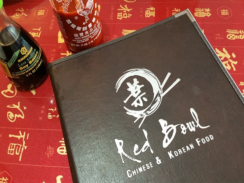 The Red Bowl menu