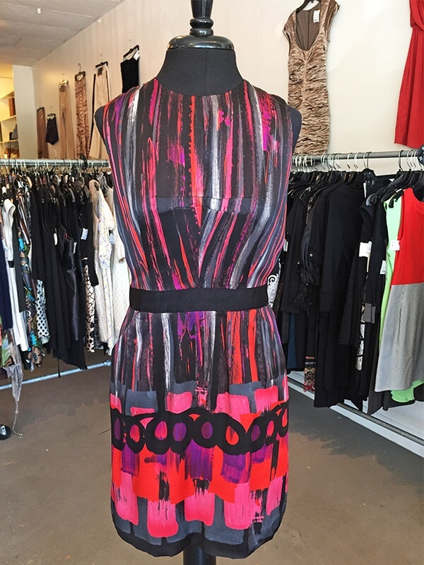 This multi-colored dress by Milly, at Lilla for $98, is perfect for a celebration!