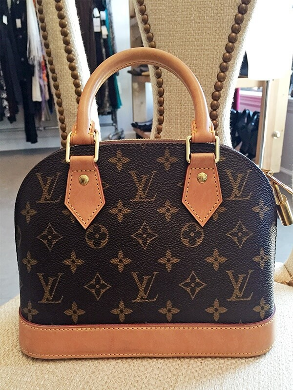 And finish it off with this Louis Vuitton Alma BB bag for $400 at Lilla.