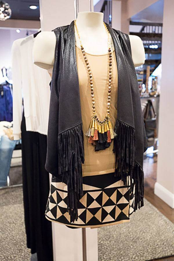 Find this fringe vest by Hale Bob for $194 at Lori James.