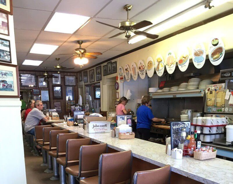 Great Louisville LuncheonettesSeating counter at Wagner's