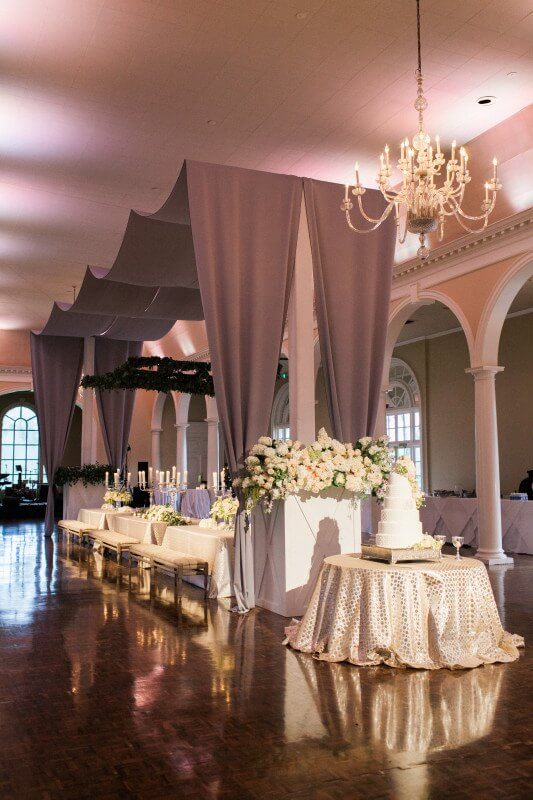 The Country Club of Birmingham looked gorgeous for the Mills wedding.