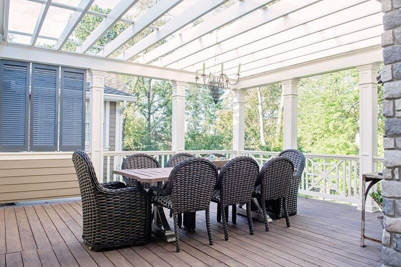 A Covered Porch Used Year Round