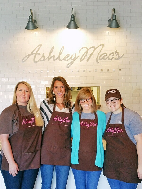 From right to left, Mary Patun, Ashley Mac's owner Ashley McMakin, Kaitlin Patton and Amy Lee get ready for cafe service at the Cahaba Heights storefront.
