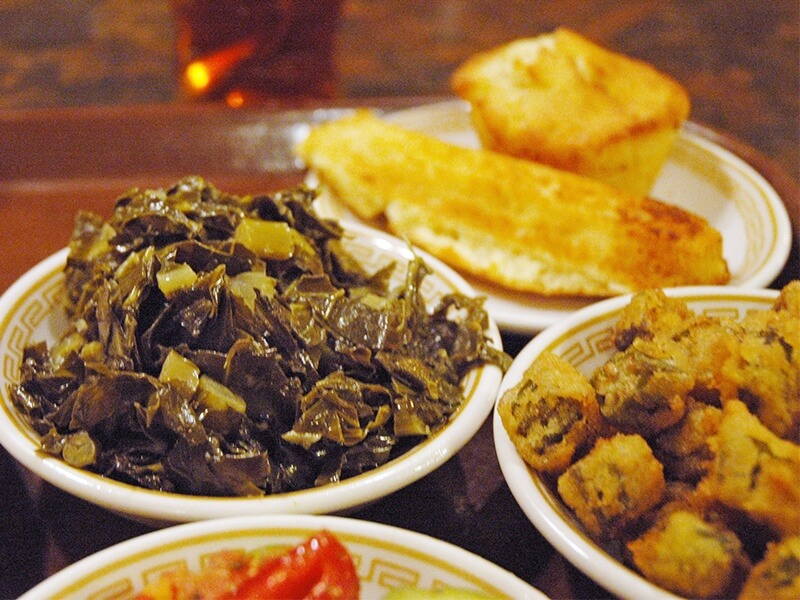Shake a little pepper sauce on your collards for a quintessential taste of the South.