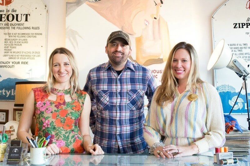 Paige Miller, Zach Payne and Karen Hegelson are the trio behind Found Studio.