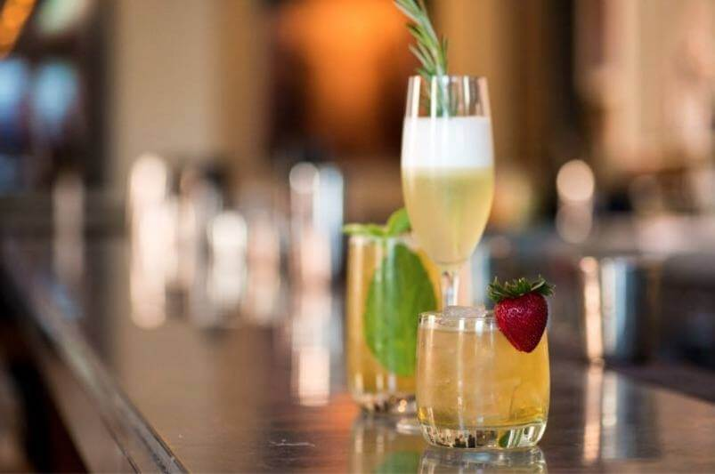 Romantic drink lineup at Proof on Main
