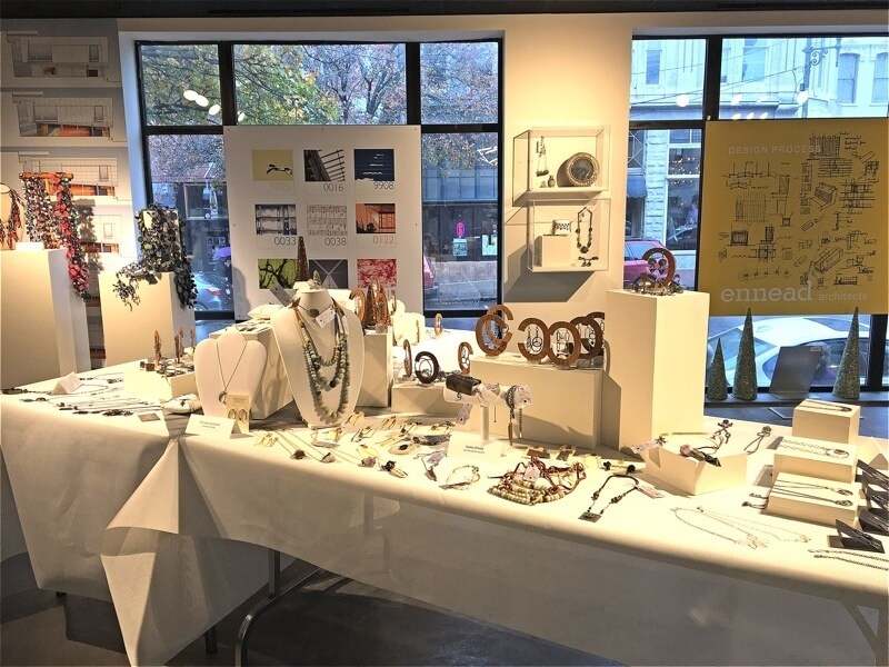 The Asheville Art Museum's holiday pop-up shop.