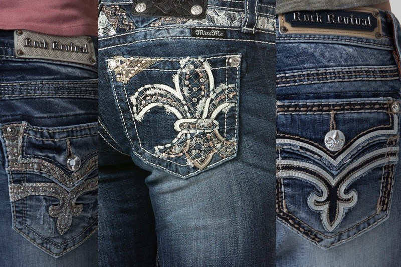 Bedazzled pockets on jeans ... a trend that has seen better days.
