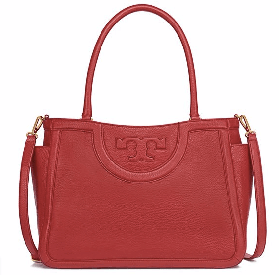 Tory burch red satchel handbag