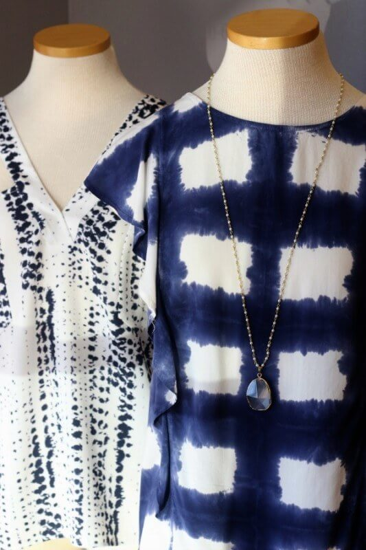 Blue and white tanks