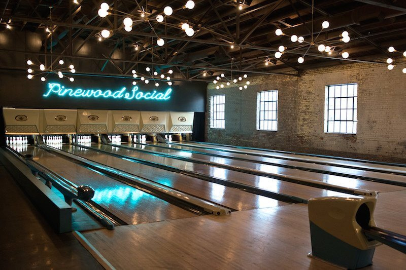 Pinewood Social bowling alley. Your Ultimate Guide to Nashville s Event Spaces
