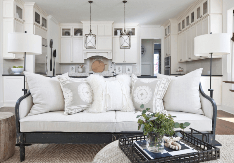 StyleBlueprint Atlanta decorating with white couch
