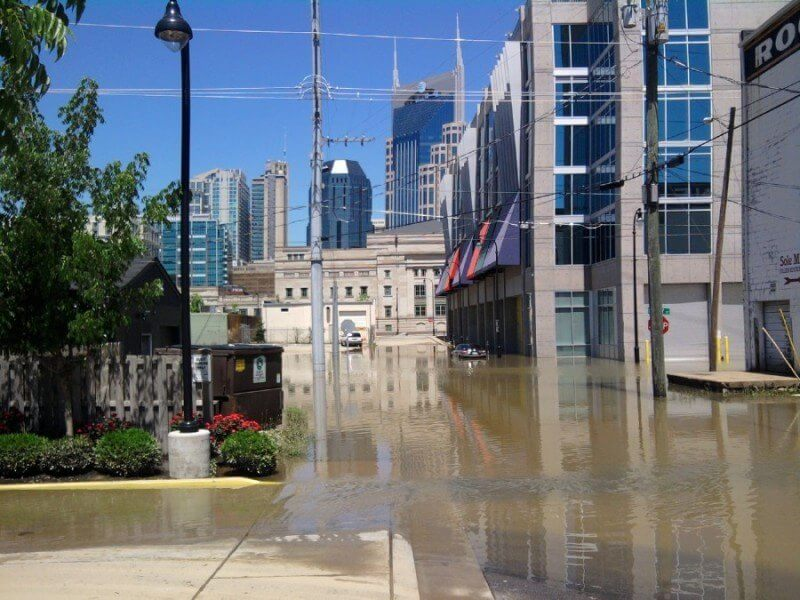 Outside the Encore condominiums on 4th Avenue, south of Broadway. Image: Nashville Public Radio