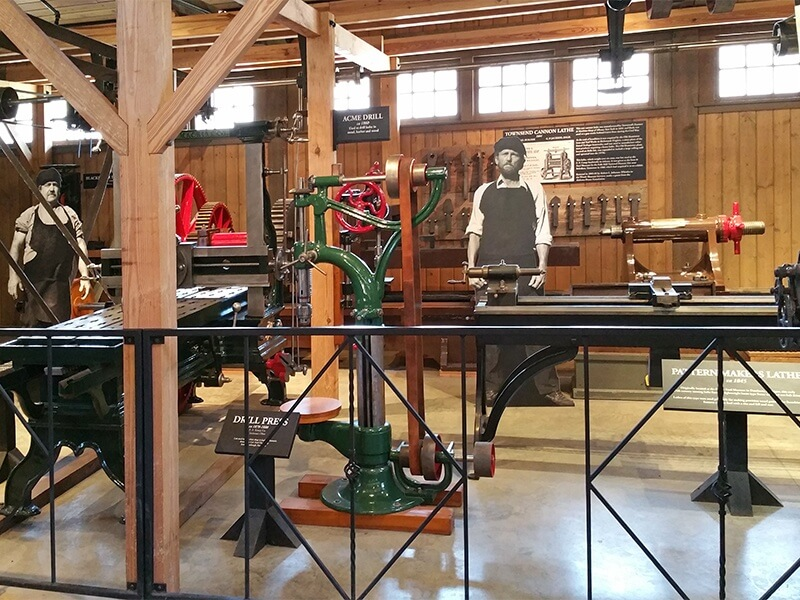 typical machine shop from the mid-1800s at Tannehill
