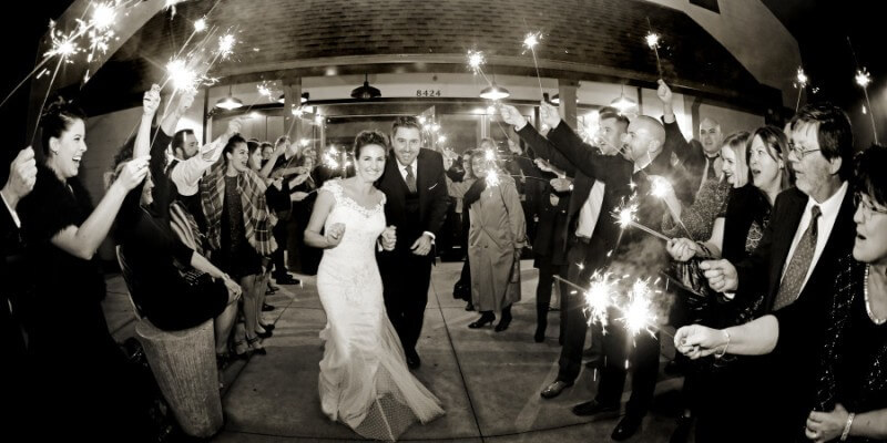 A beautiful sparkler send-off
