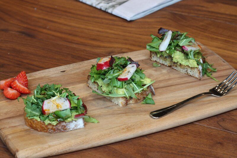 The perfect bright bite- avocado toast to start your morning at Revelator Coffee Company