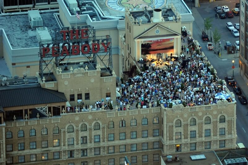 The hotel's rooftop offers a great gathering spot with impressive views.