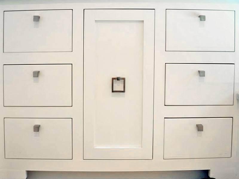 Square white bronze pulls