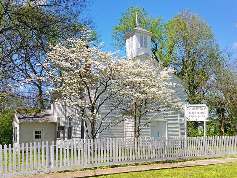 The Mooresville Church of Christ's claim to fame is that future president and general James A. Garfield preached here during the Civil War in 1863.