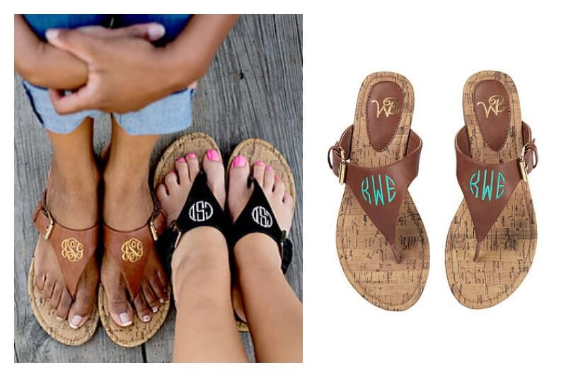 Monogrammed sandals are so completely Southern!