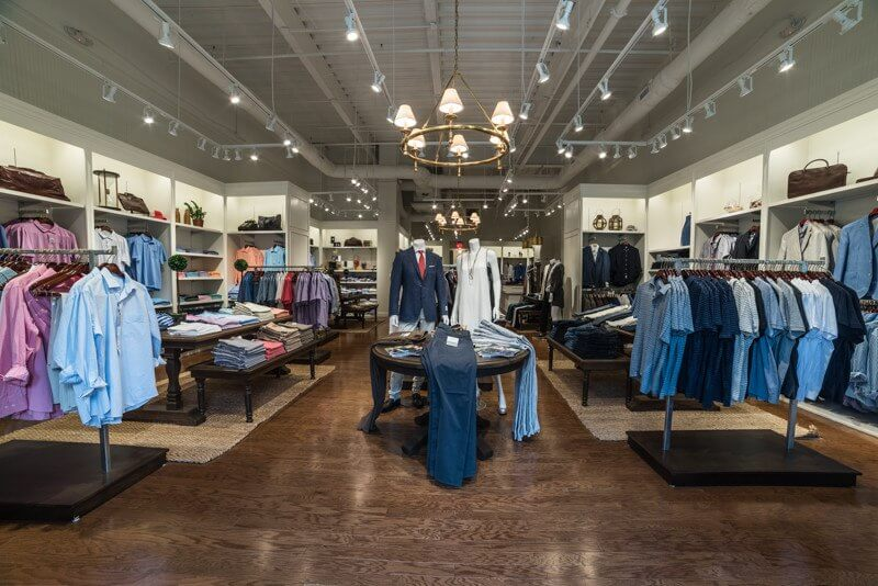 Oak Hall carries clothing and accessories for men and women.