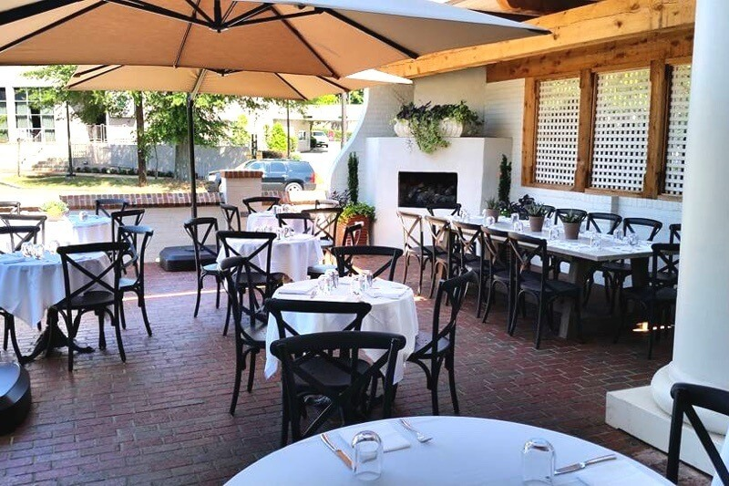 The gorgeous patio at Galley & Garden in Southside | Image: Galley & Garden