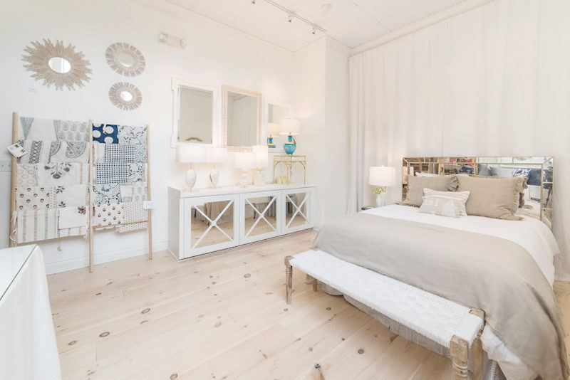 This bedroom is a vision thanks to the decor from Ashley Meier