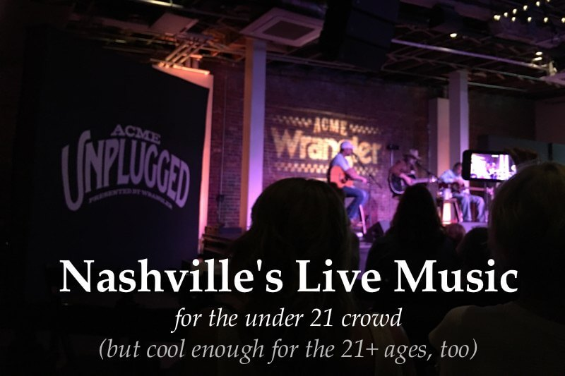 Nashville's Best Music Venues For the Under 21 Crowd