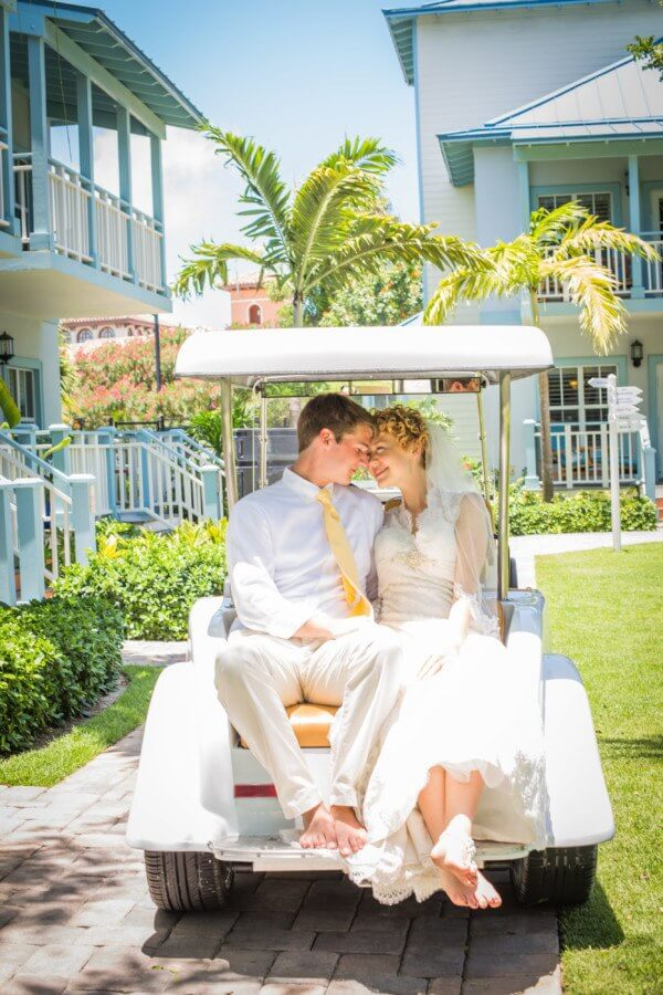 "The relaxed feel of Turks and Caicos made the gorgeous island the perfect spot for this couple to tie the knot. ""The stress of things is already less when you're on an island,"" Kayla says. ""And I'm just not the type of person to worry about things, so it was perfect for us."""