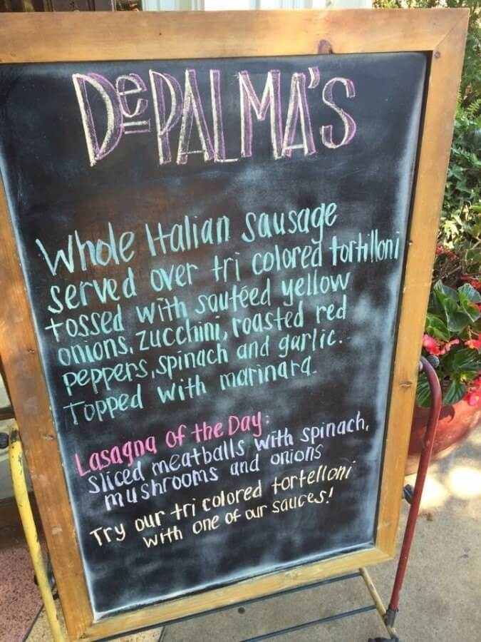 The seriously delicious options at DePalma's give it the stellar reputation it deserves.