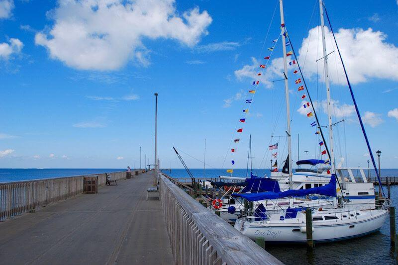 Fairhope Municipal Pier is a hot spot for fishermen, families and visitors alike, and on a blustery afternoon there is no better place to soak in all the action.