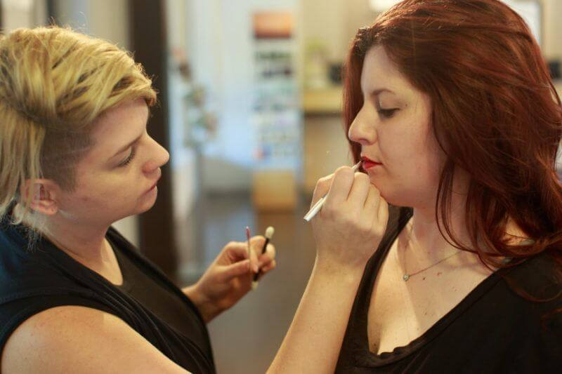 Finally, finish the lip with a glaze focused in middle of upper and lower lips, which gives lips depth and texture.