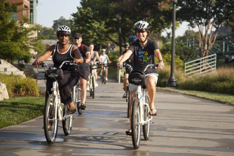 Rent a bike at Reedy Rides and take to the Swamp Rabbit Trail.