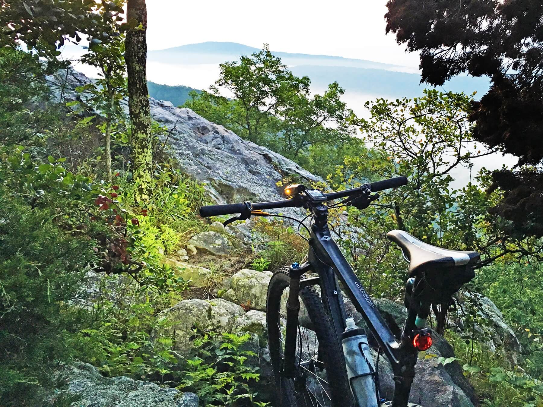 Michael O'Kelley takes early morning mountain-bike rides to the top of Double Oak Mountain, directly above Mt Laurel, where he enjoys this stunning view.