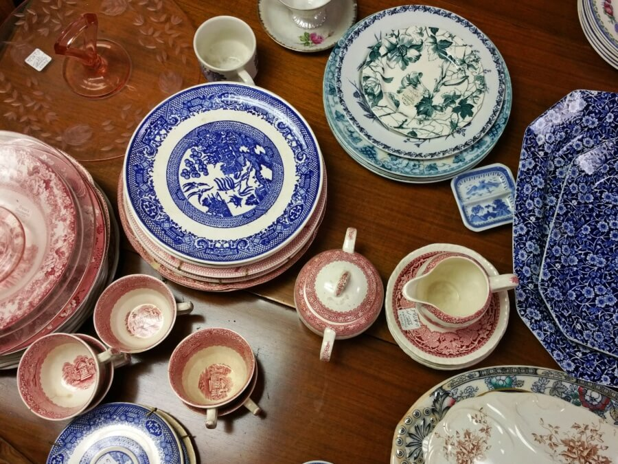 Mix and match all types of antique serving ware from Tricia's extensive collection!
