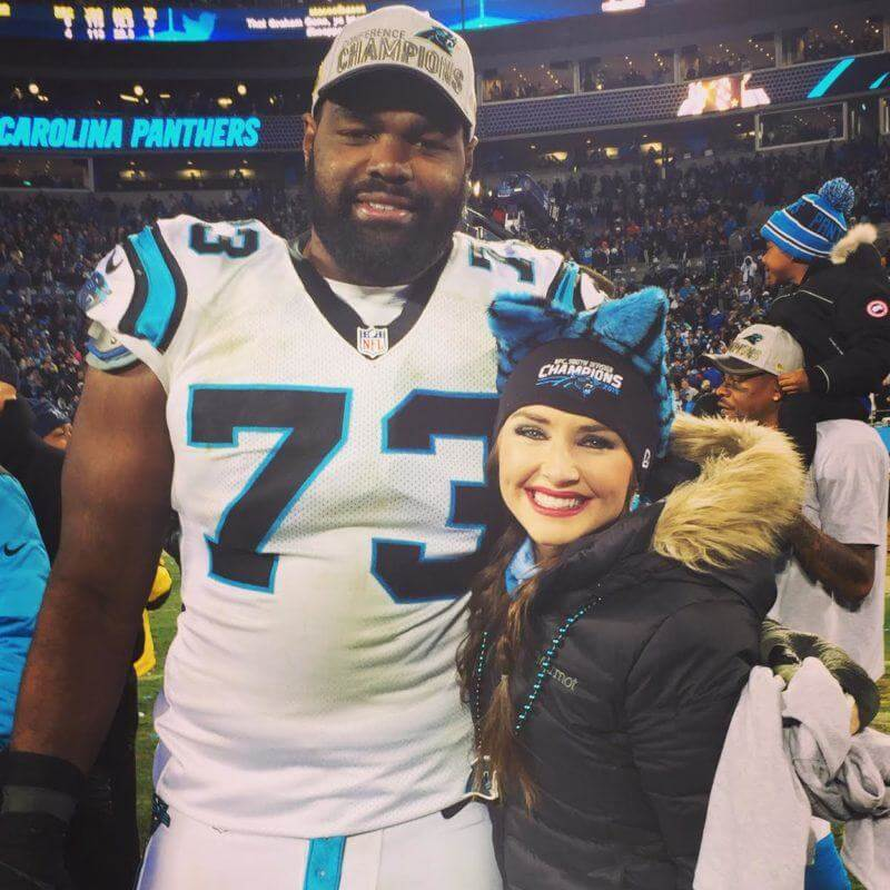 Collins Tuohy and Micheal Oher