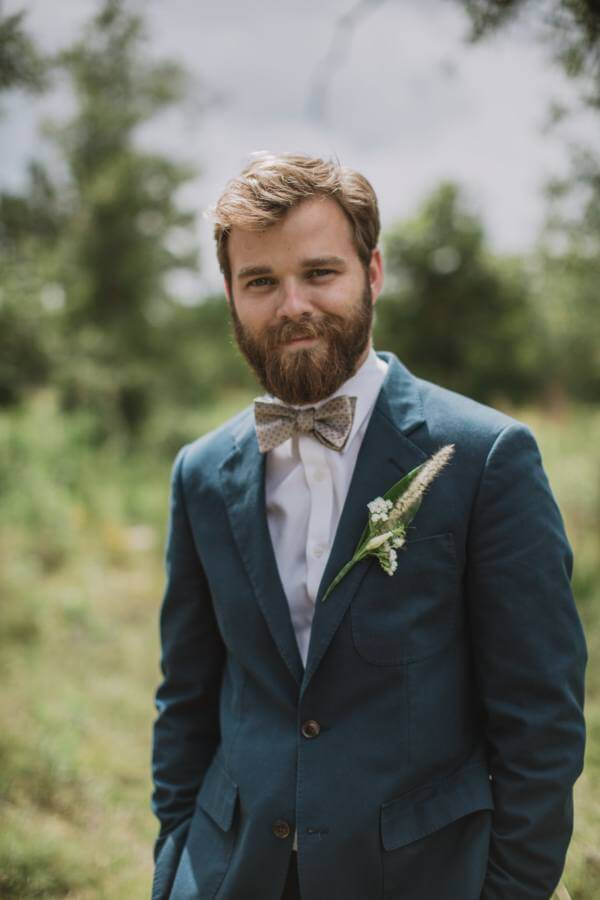 Matthew makes for a dapper groom!