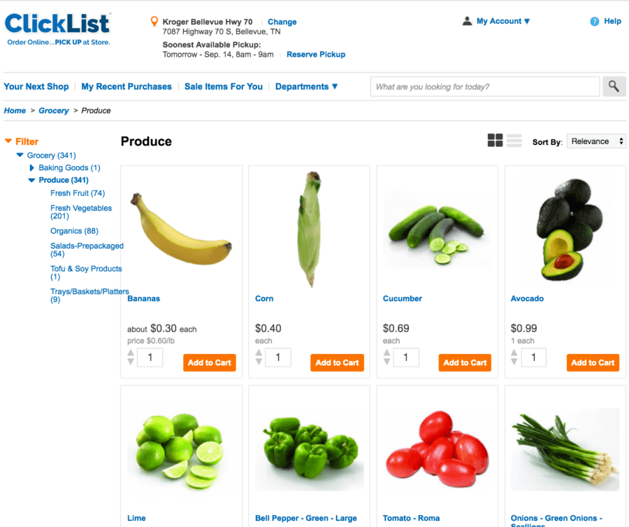 Have you used Kroger's online shopping?