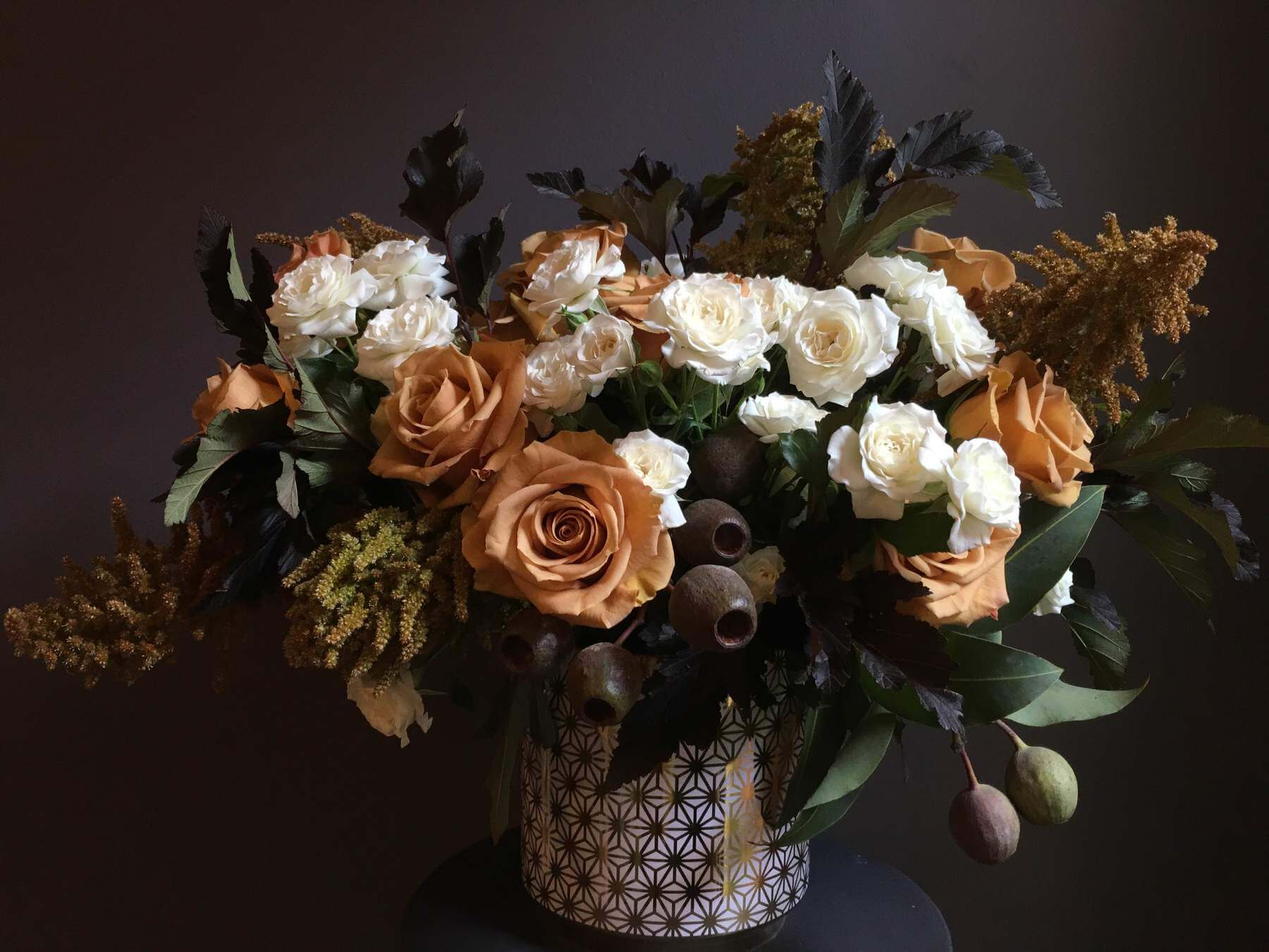 FLWR Shop uses local flowers alongside flowers from around the world in their arrangements!