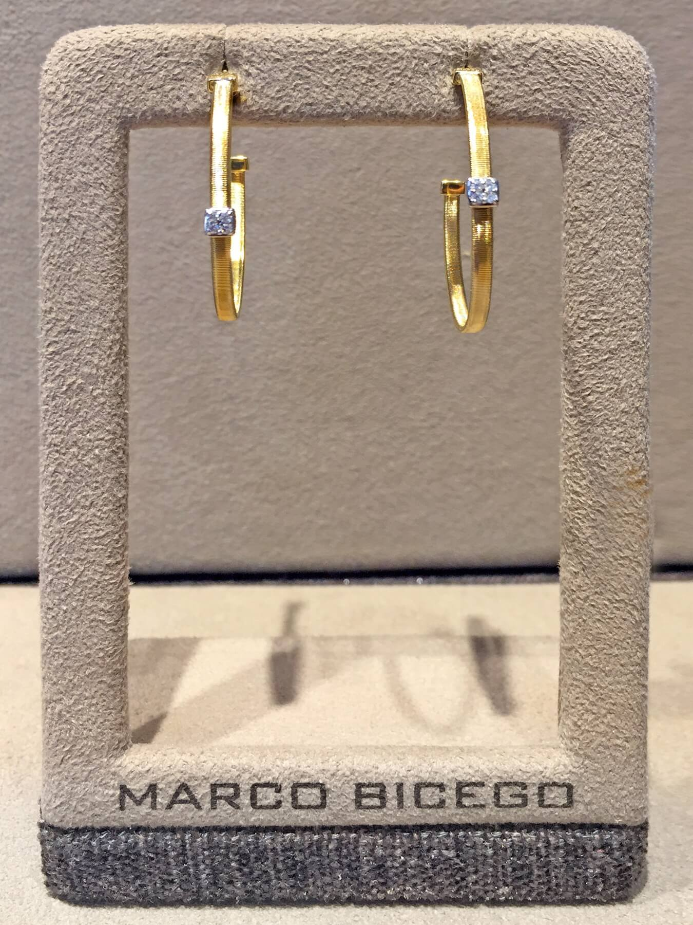 Marco Bicego diamond-and-gold earrings, $1,640. at Bromberg's