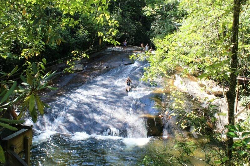 Sliding Rock Waterfall  styleblueprint.com