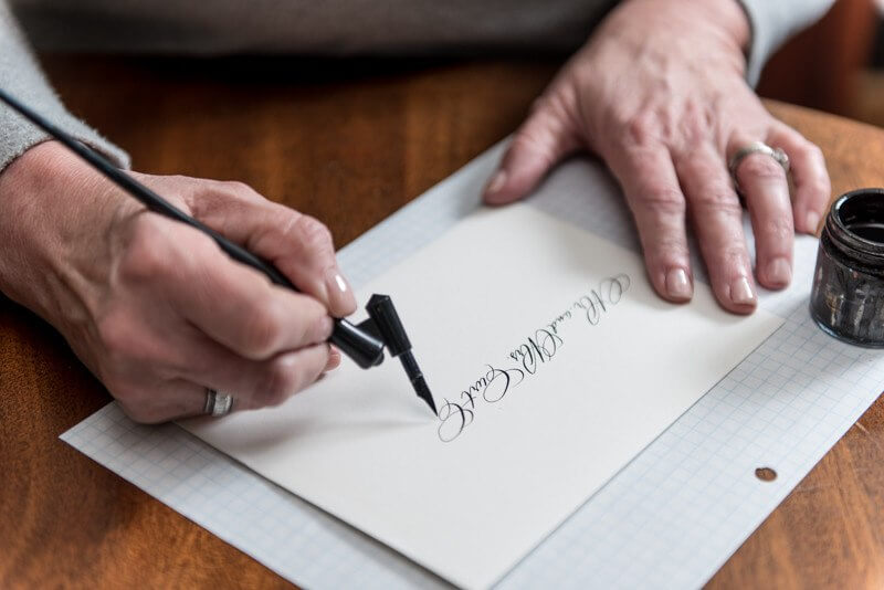 Let Valorie Ward Cole Calligraphy handle the penmanship on your invitations!