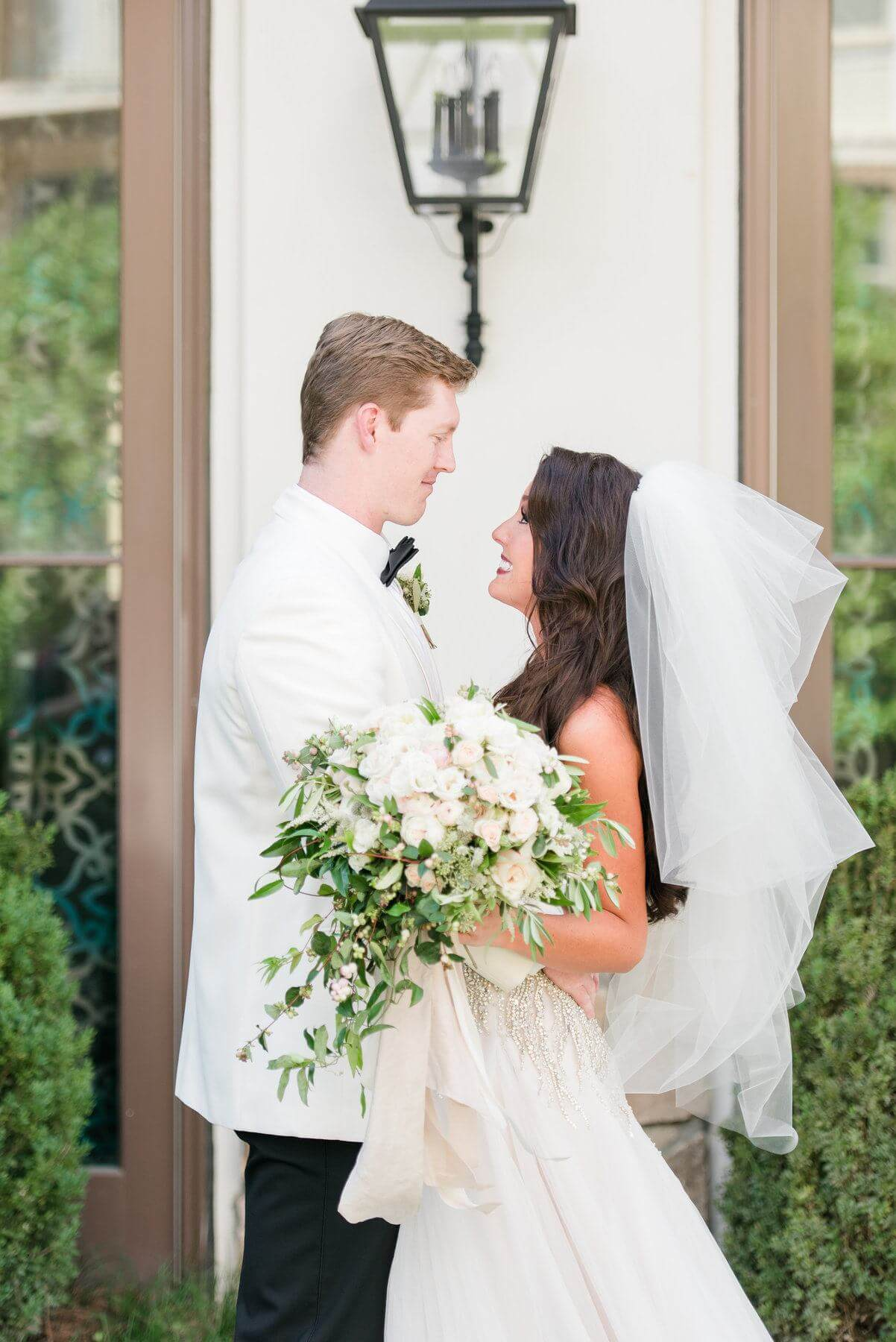 We love a sweet first look! How smitten do these two lovebirds look?