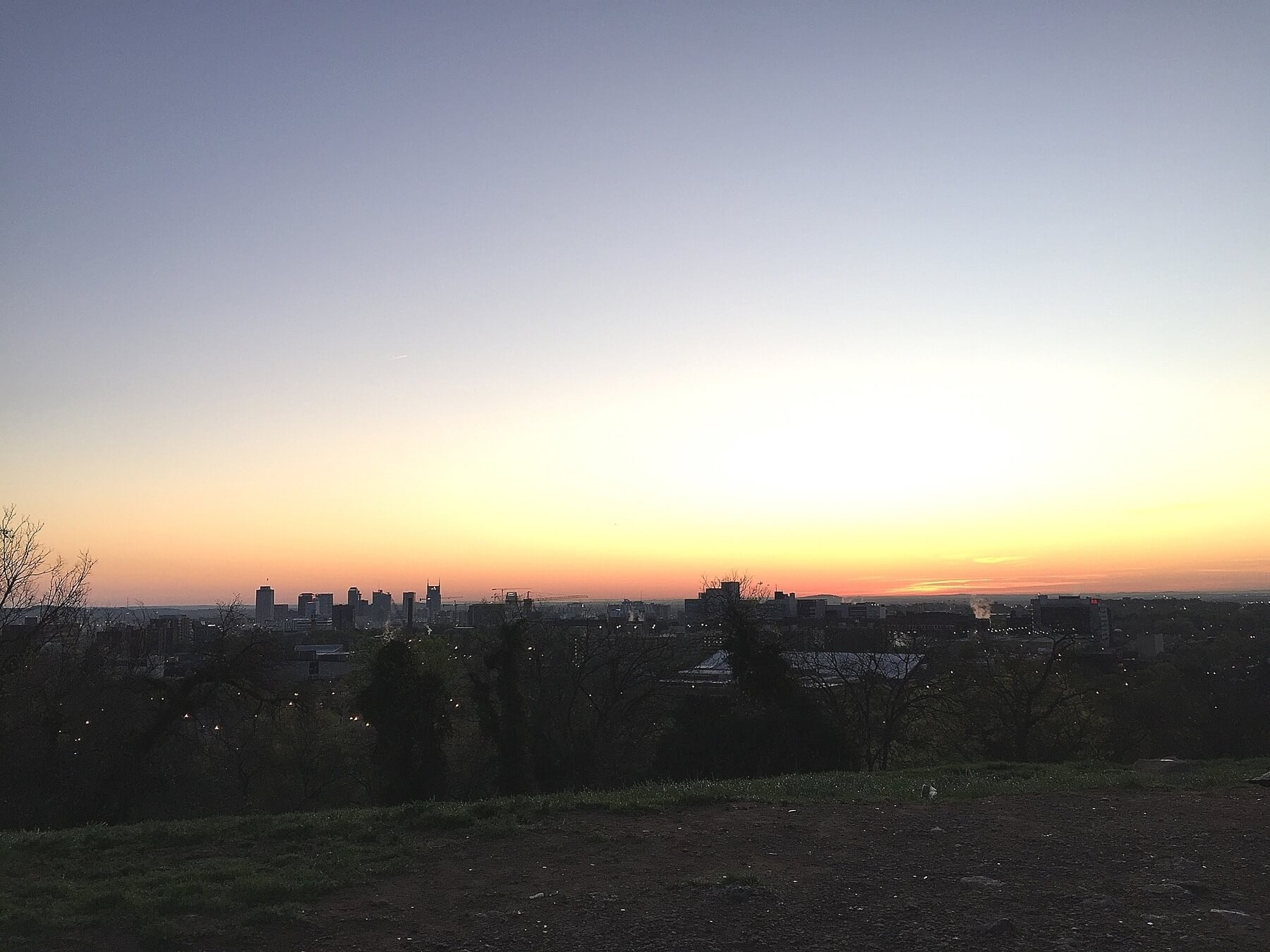 Whether you want to just watch a sunset or you're looking for a skyline backdrop, head up to Love Circle.