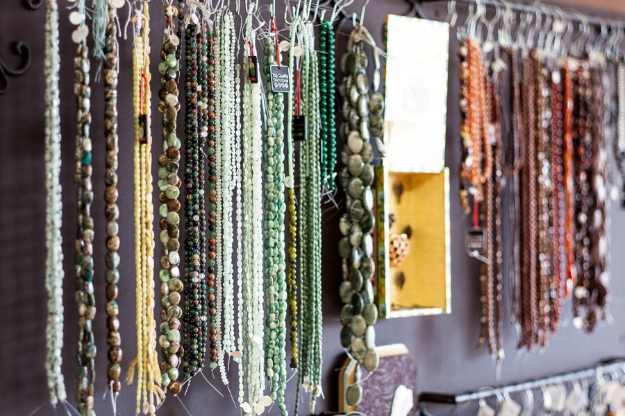 Make your own one-of-a-kind necklace at Dear Prudence.