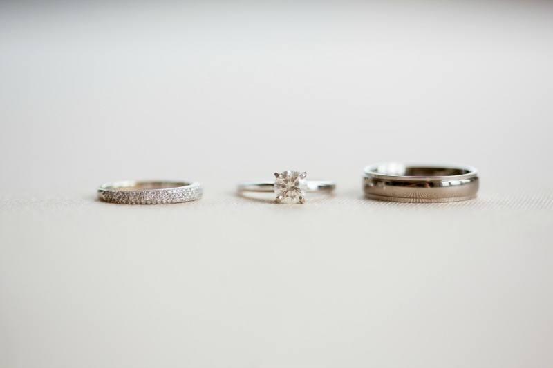 A stunning wedding ring set.