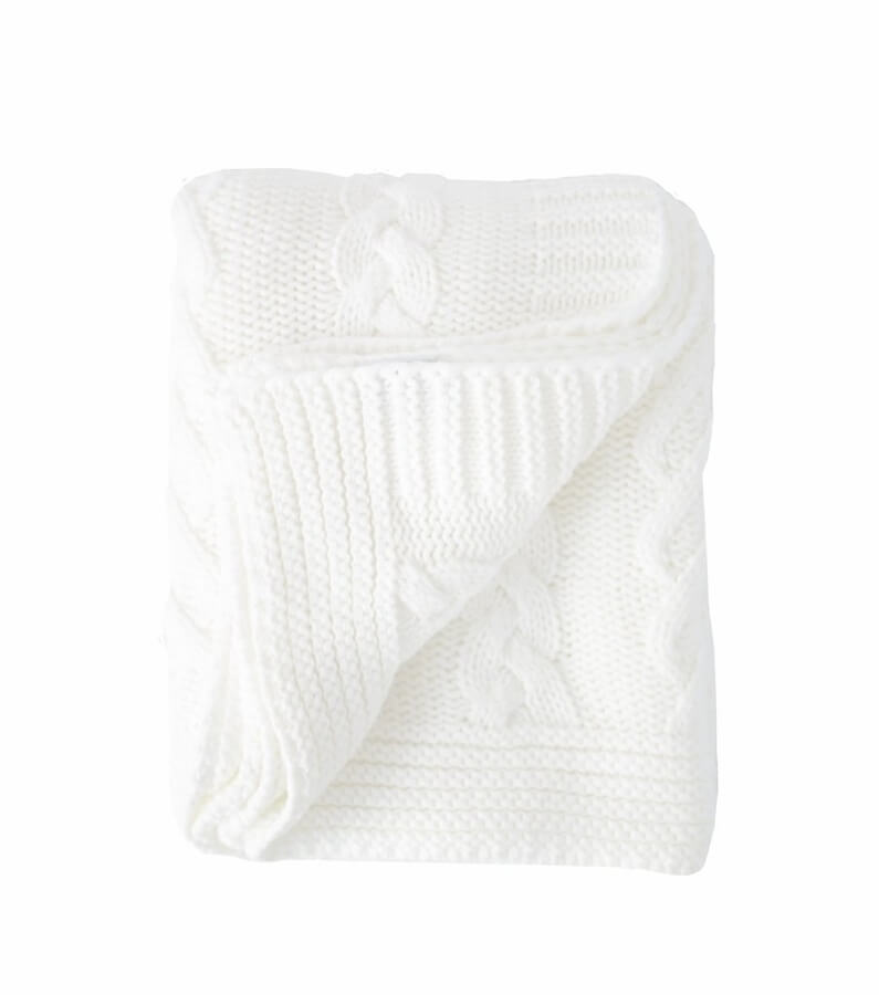 Cable knit throw, $88 at turkish-t.com