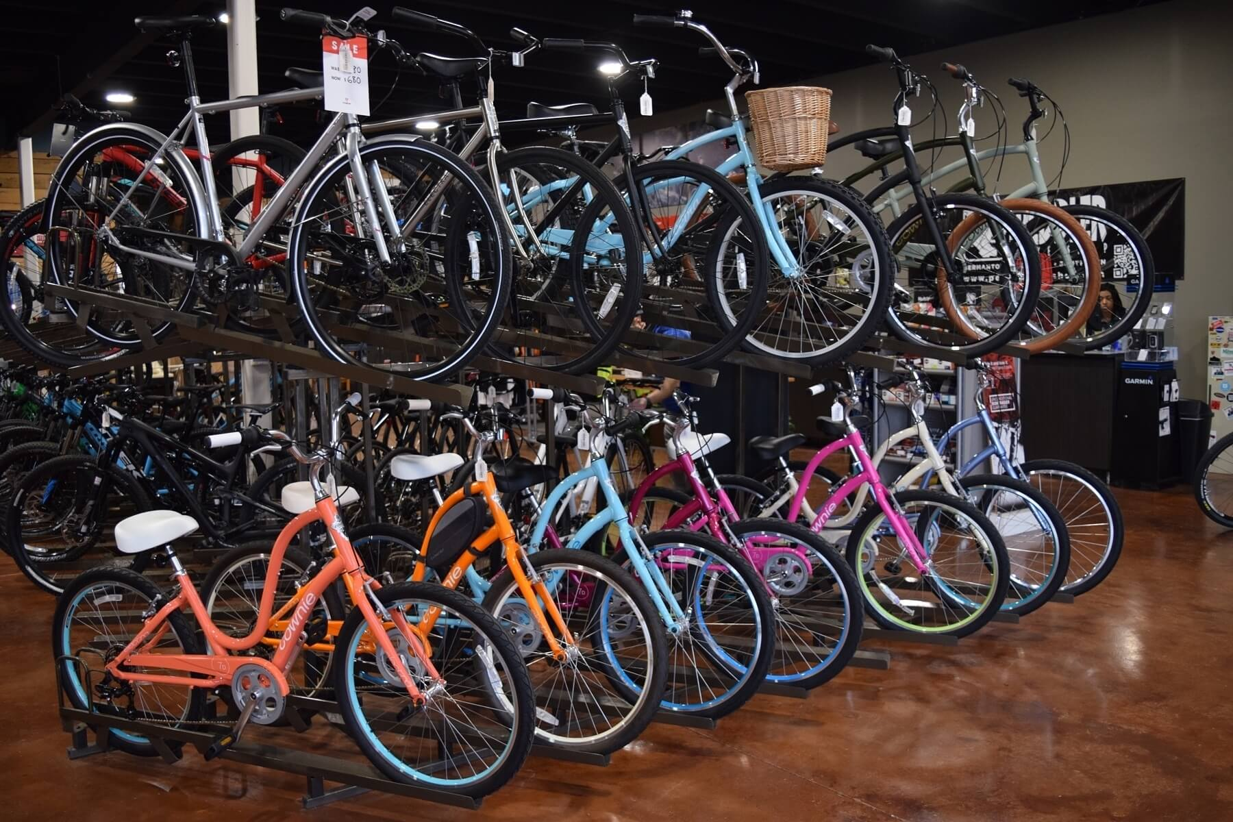 Peddler Bike Shop has a bike for everyone. The bike selection includes hybrids, mountain, and road bikes as well as options for kids of all ages.