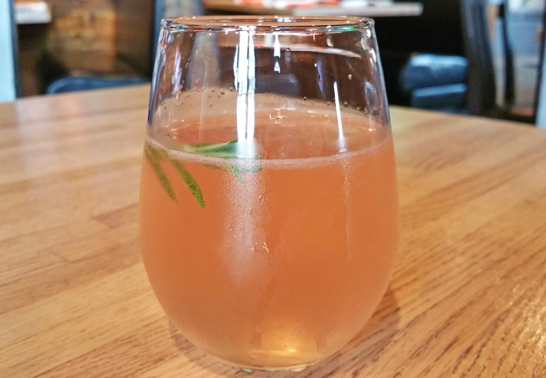 The RoséDale incorporates Elizabeth vodka, St. Germaine, rosé, lime, rosemary and bubbly!